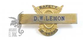 Insignia de chaqueta Safaty D. W Lemon 2 years